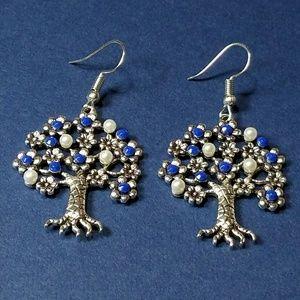 Jewelry - Blue Tree of Life earrings